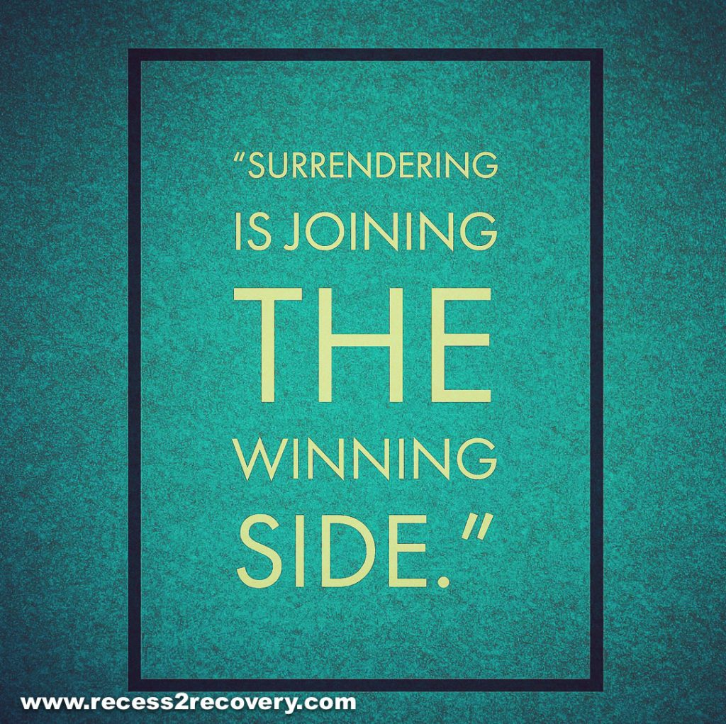 Surrendering is joining the winning side